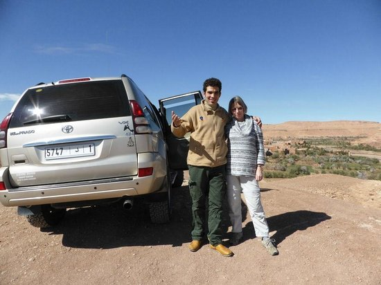 Morocco Excursions: Rachel with Hassan the driver
