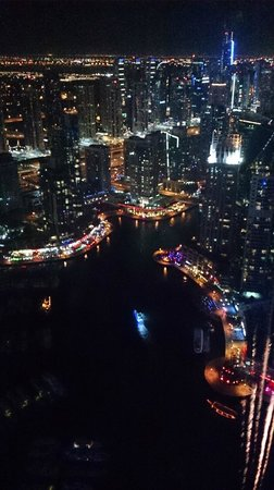 Dubai Marriott Harbour Hotel & Suites: View from 'The Observatory' restaurant and bar