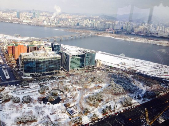 Conrad Seoul : View from the Executive Lounge in Feb 2014