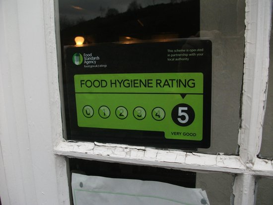 Bay Horse: Food Standards Agency Rating 5 Very Good.