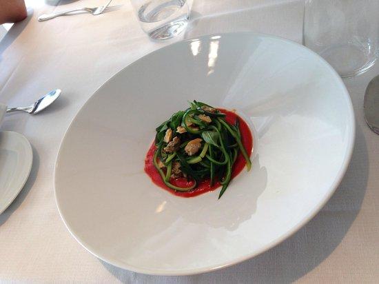 Terme di Saturnia Spa & Golf Resort: Детокс: спагетти из цуккини с вонголе. Detox by Dr Morandi: Spaghetti alle Vongole with courgett