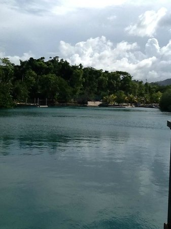 Goldeneye Resort: from the covered deck