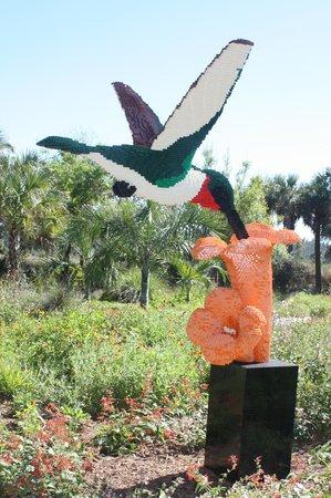 Naples Botanical Garden: Lego Humingbird - amazing