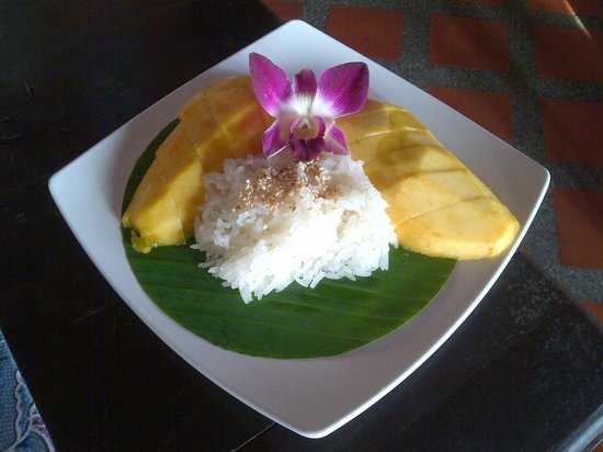 Sawasdee : sweet mango + sticky rice
