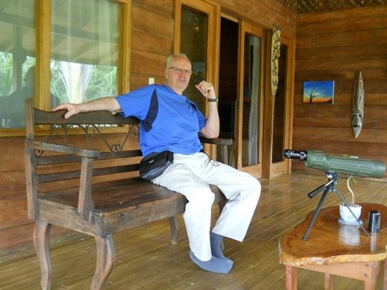 Tico Rainforest  B & B: On the balcony at Casa Araya