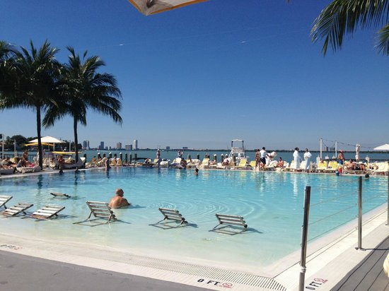 The Standard Miami Pool Overlooking Bay
