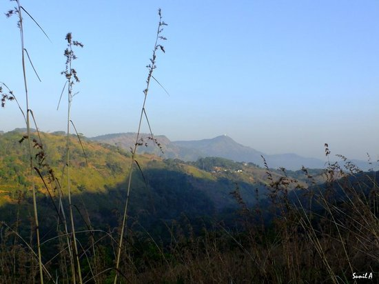 from top of hill, mountains in Gampola