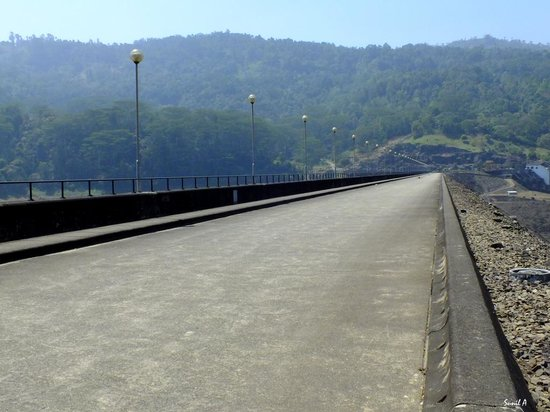 roadway on top of dam