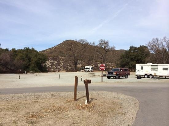 Pinnacles Campground Inc: Campground RV sites.  some have shade and some do not.