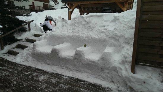 Chalet Jamais Bleu : Snow Sofa