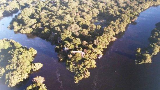 Royal Chundu Luxury Zambezi Lodges: Vista aérea (foto tirada de um livro do hotel)
