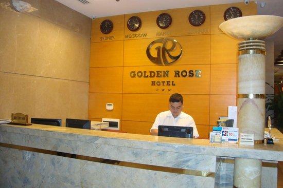 Golden Rose Hotel : Accueil de l'Hôtel GOLDEN ROSE