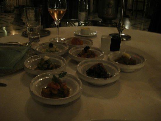 Restaurant du Red House : My boyfriends starter, mixed salads