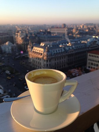 InterContinental Bucharest: View from 15th floor balcony