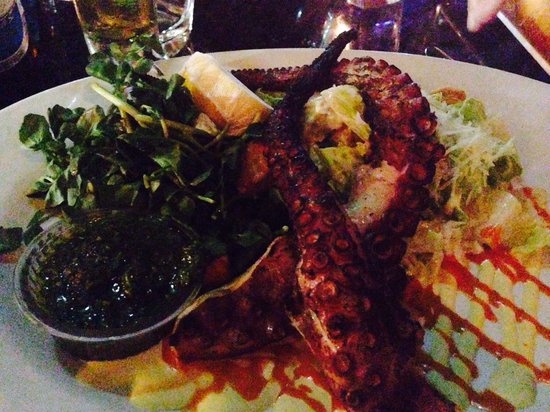 Jaguar Ceviche Spoon Bar and Latin Grill: Grilled octopus