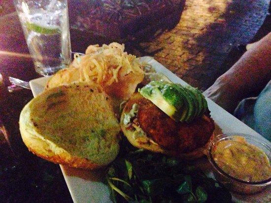 Jaguar Ceviche Spoon Bar and Latin Grill: Crab burger