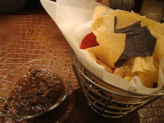 Blue Adobe Grille: Great salsa, Blue Adobe Grill, Scottsdale, AZ