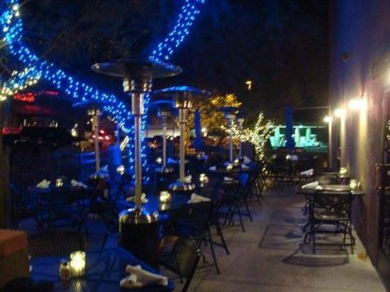 Blue Adobe Grille: Back patio, Blue Adobe Grill, Scottsdale, AZ