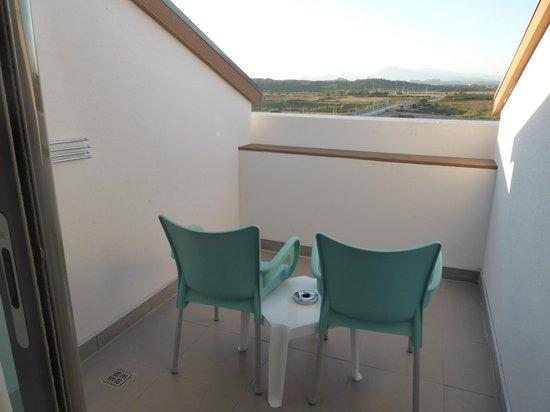 Terrace Elite Resort : Balkon mit Aussicht auf das Gebirge