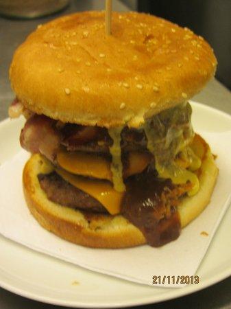Potter Hill Fish Shop : Bad Boy Burgers Served - Yummy :)
