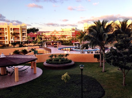 The Royal Haciendas All Suites Resort & Spa : view from room toward center