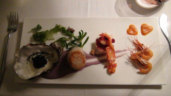 Les Entrees Fruits De Mer Crevettes Homard Saint Jacques
