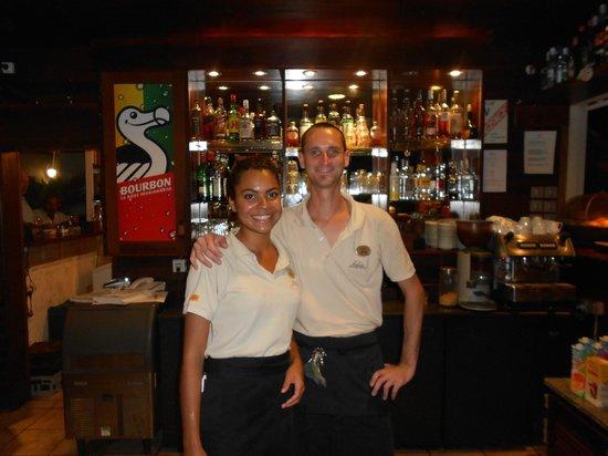Iloha Seaview Hotel: Anne sophie et Fabrice avec leur bonne humeur