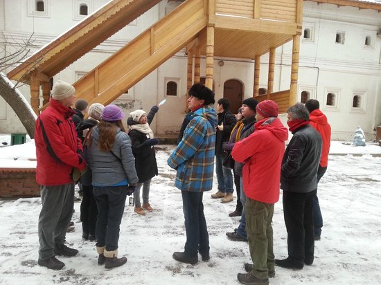 Moscow Free Tour: Outside the Romanov Chambers with Elena, our guide