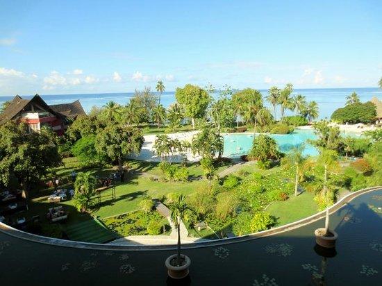 Le Meridien Tahiti: view from panoramic room