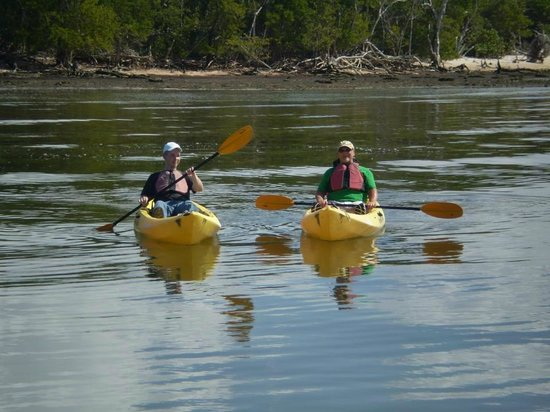 Everglades Area Tours: The tourists thoroughly enjoying kayaking!