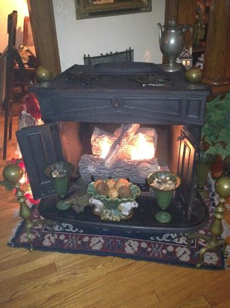 Turtle Street Bed and Breakfast: warm fire on cold days/nights
