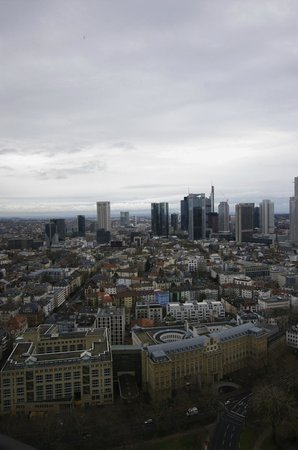 Frankfurt Marriott Hotel: Aussicht bei Tag2