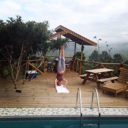 Corredores del Pacuare: Morning yoga practice..