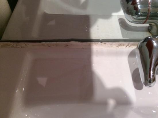 Hermitage Park Hotel: cracked sink