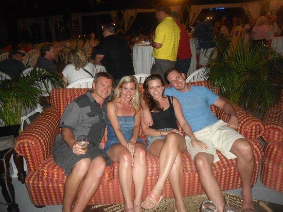 Sandals Ochi Beach Resort : friends at superbowl party