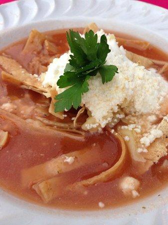 El Palomar de los Gonzalez: Tortilla soup. Delicious!
