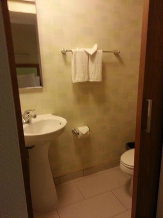 SpringHill Suites Salt Lake City Airport: The bathroom