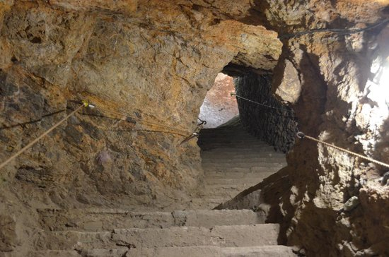 Mina La Valenciana : Escaleras de la mina.