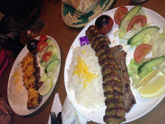 Mowlana Persian Restaurant: Soltani and Makhsoos :)