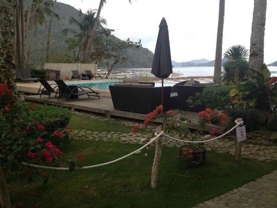 Cadlao Resort : Garden and pool