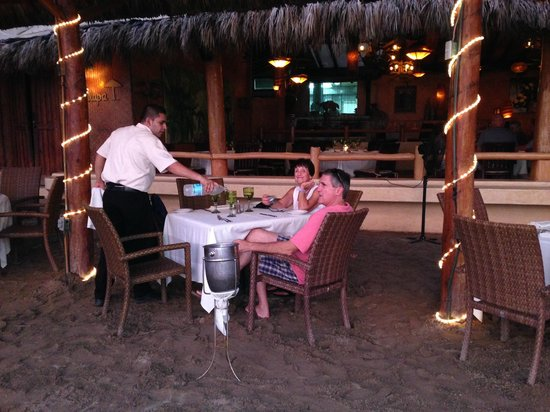 La Palapa: Put your toes in the sand!