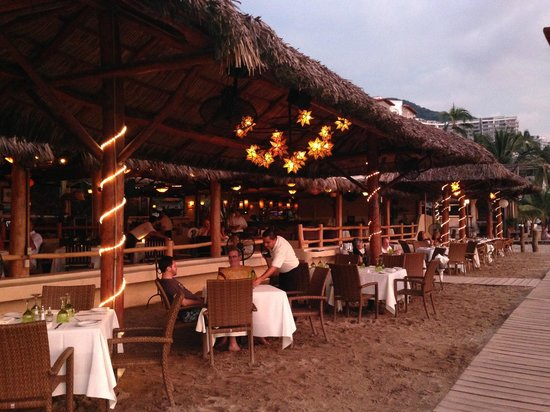 the beach side of La Palapa