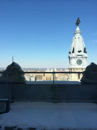 The Ritz-Carlton, Philadelphia: 28th floor view (obstructed by ledge)