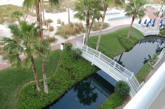 TradeWinds Island Grand Resort: Canals for paddle boats around resort