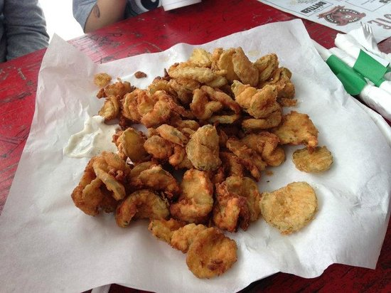 Loco Coyote Grill: Fried pickles - Yum!
