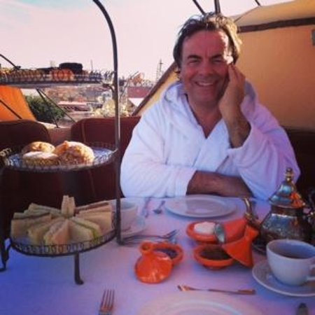 Maison MK : Afternoon tea on the terrace