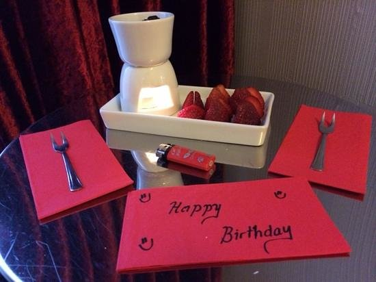 Hotel Amira Istanbul : what a great touch for my birthday