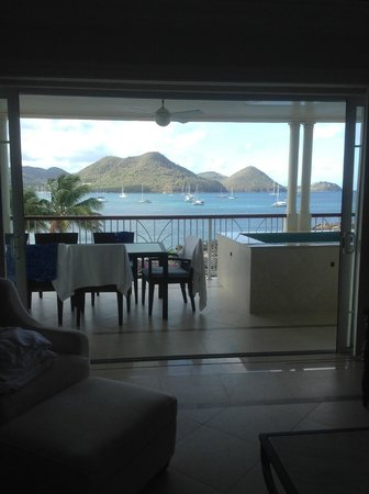 The Landings St. Lucia : Living Room With Doors open