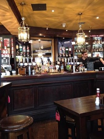 Bayswater Arms: the bar, super friendly staff