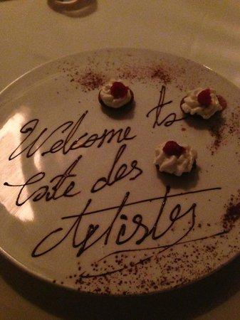 Café des Artistes: Fancy little desserts